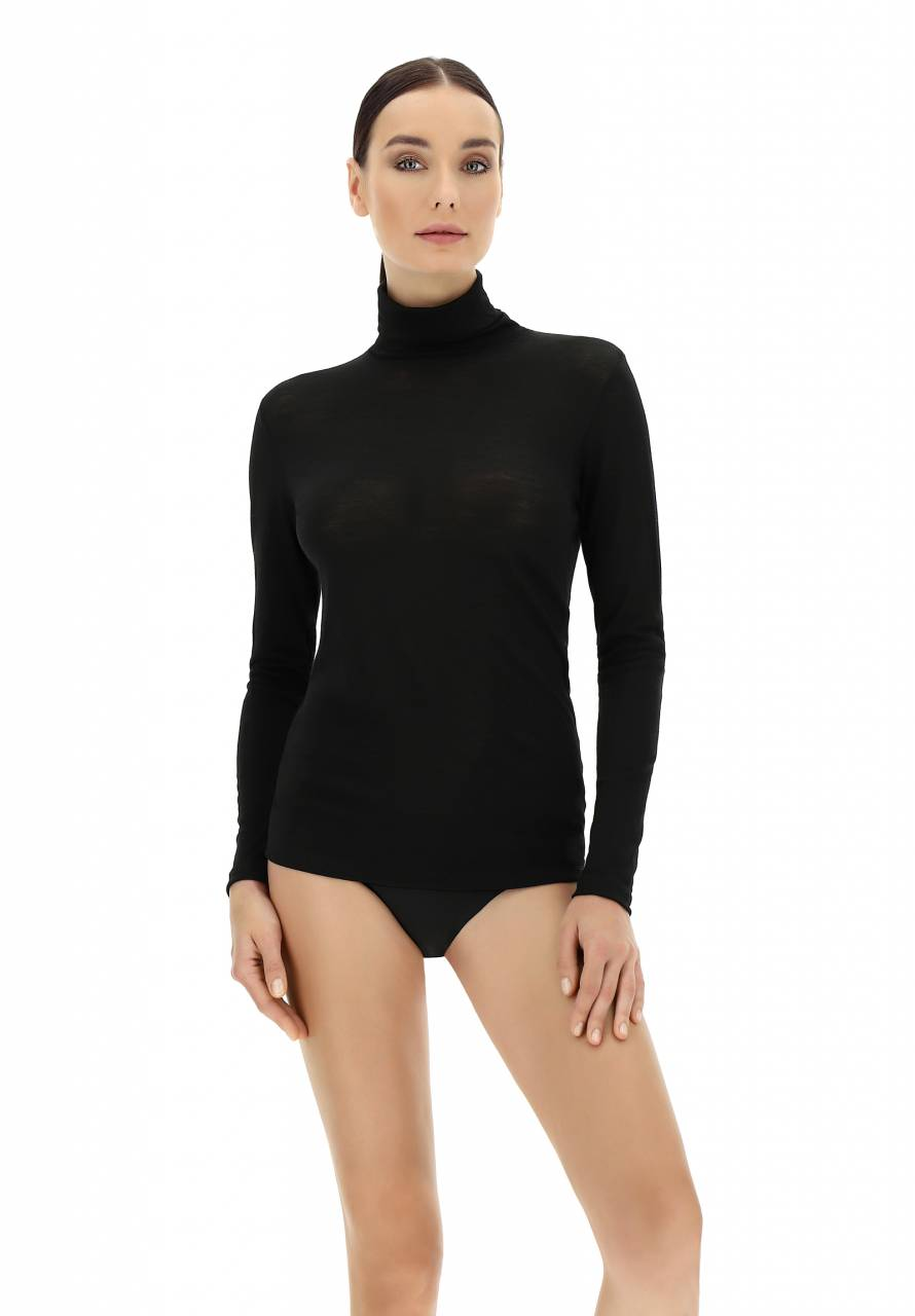 Wool Merino - T-Shirt Turtle Neck lange mouw